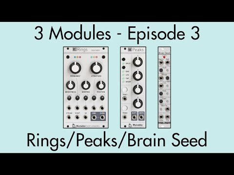3 Modules #3: Rings, Peaks, Brain Seed