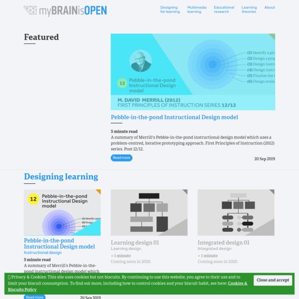 Instructional * Learning Design * Multimedia learning * myBRAINisOPEN