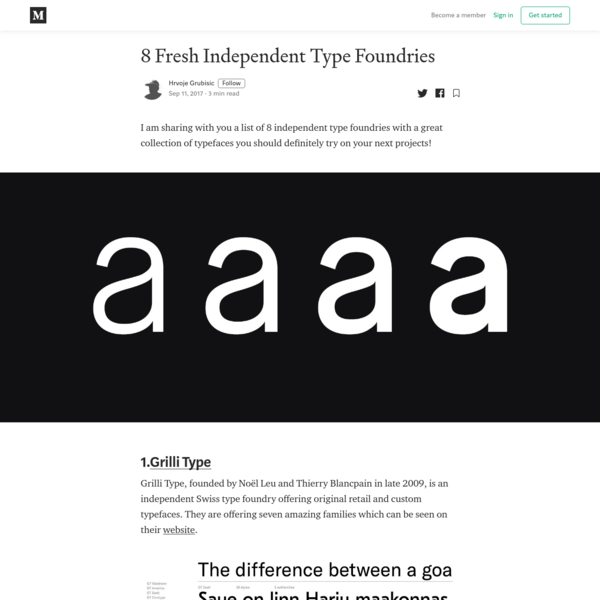 8 Fresh Independent Type Foundries