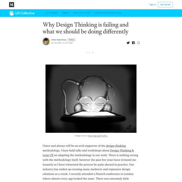 Why Design Thinking is failing and what we should be doing differently