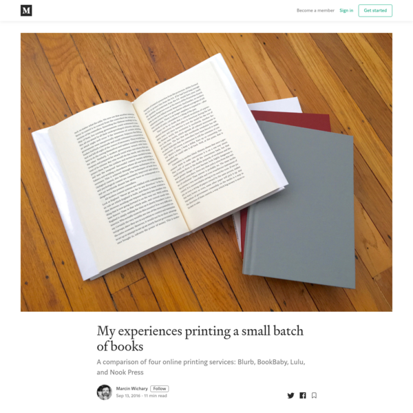 My experiences printing a small batch of books