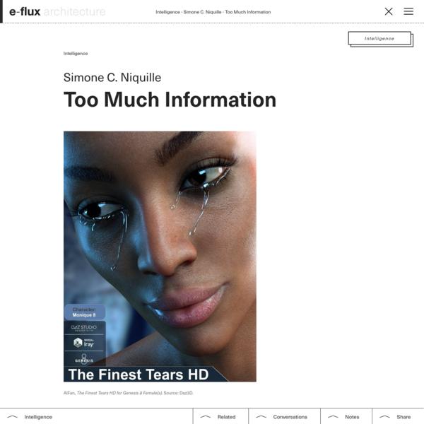Too Much Information - e-flux Architecture - e-flux