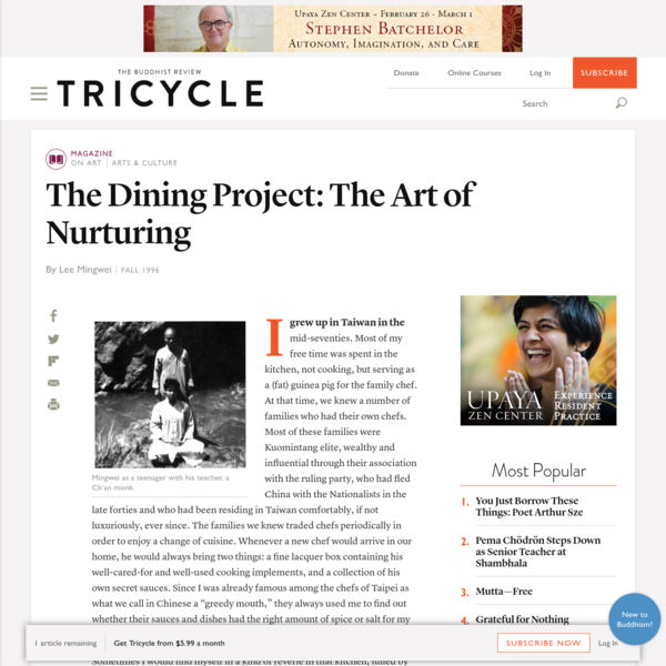 The Dining Project: The Art of Nurturing