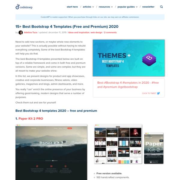 15+ Best Bootstrap 4 Templates (Free and Premium) 2020