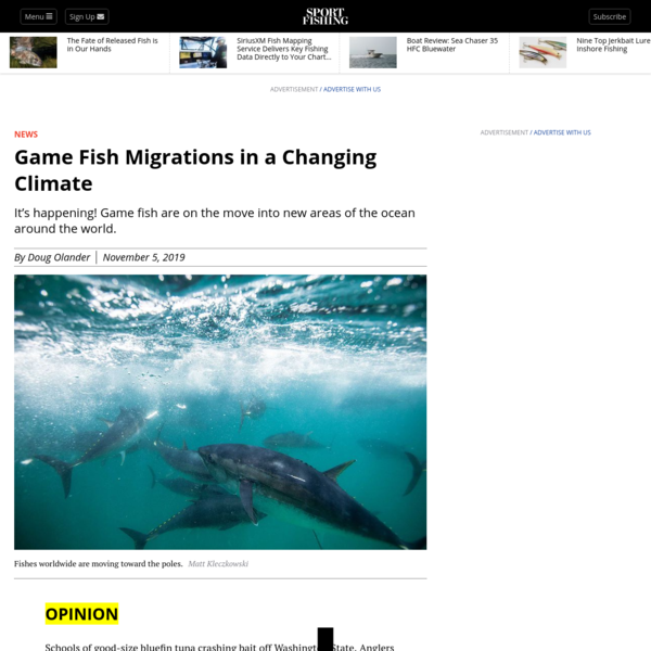 Game Fish Migrations in a Changing Climate