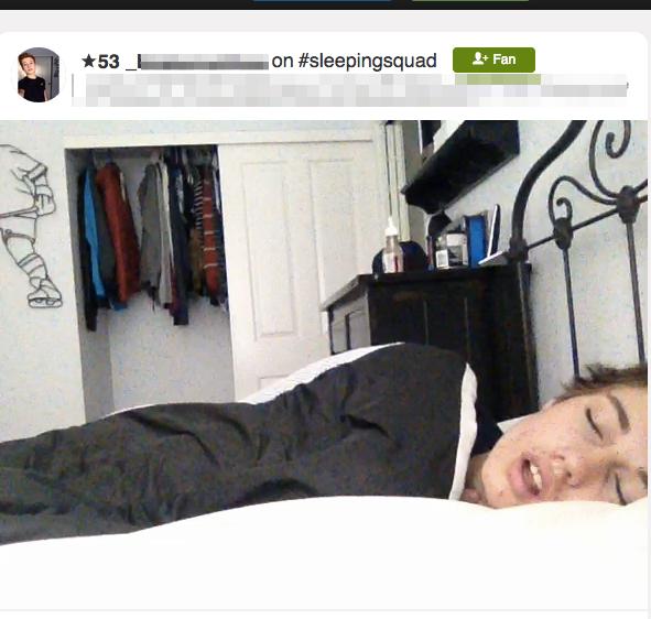 YouNow, #sleepingsquad