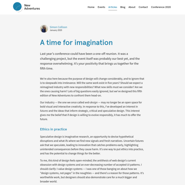 A time for imagination