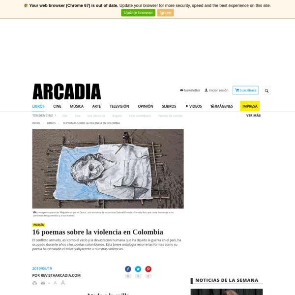 16 poemas sobre la violencia en Colombia