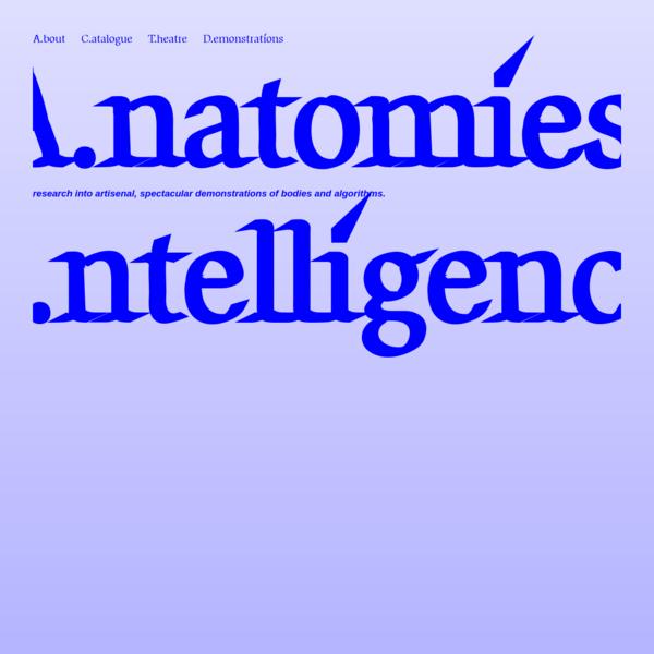 Anatomies of Intelligence