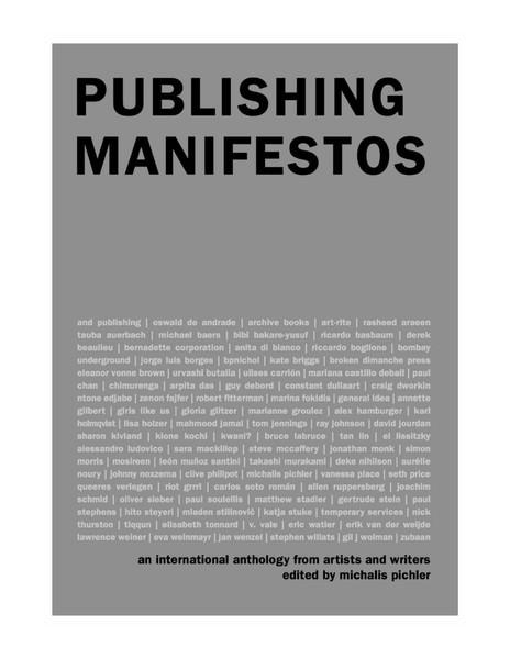 Publishing Manifestos, Michalis Pichler, 2019, intro