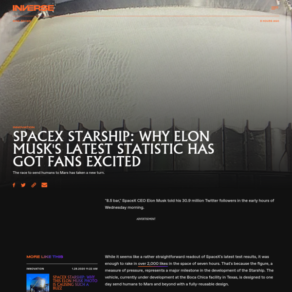 SpaceX Starship: why Elon Musk's latest statistic has got fans excited