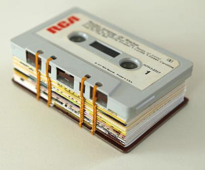 handmade-books-handmade-book-book-binding-books-book-making-book-crafts-coptic-stitch-mini-journal-sewn-using-cassette-tapes...