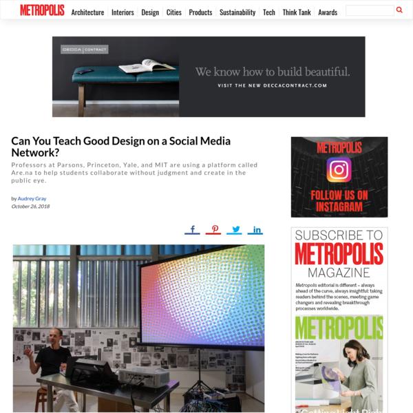 Can You Teach Good Design on a Social Media Network?
