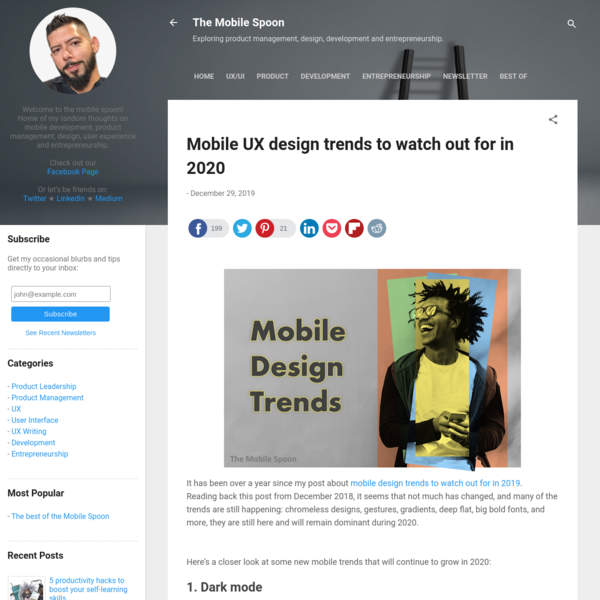 Mobile UX design trends to watch out for in 2020