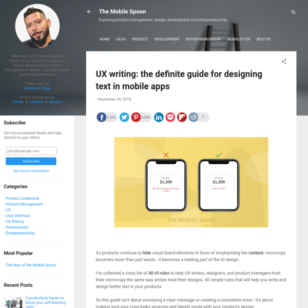 UX writing: the definite guide for designing text in mobile apps