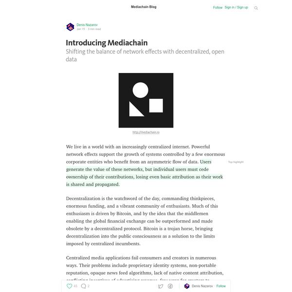 Introducing Mediachain - Mediachain Blog