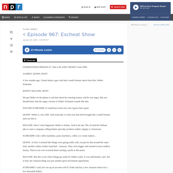 Episode 967: Escheat Show