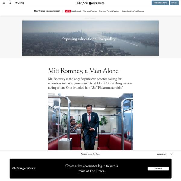 Mitt Romney, a Man Alone