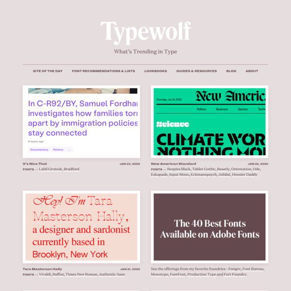 What's Trending in Type · Typewolf