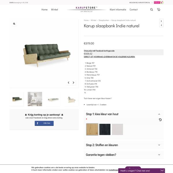 Karup slaapbank Indie naturel | Karupstore NATUURLIJK design!