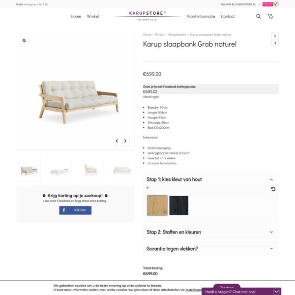 Karup slaapbank Grab naturel | Karupstore NATUURLIJK design!