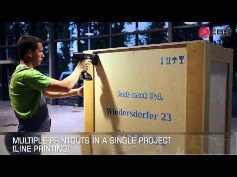 HANDJET EBS-260 - improved hand held, portable, mobile ink jet printer - ver. EN