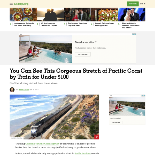 This Pacific Coast Train Ride Needs to Be on Your Bucket List - Best Way to See Pacific Coast