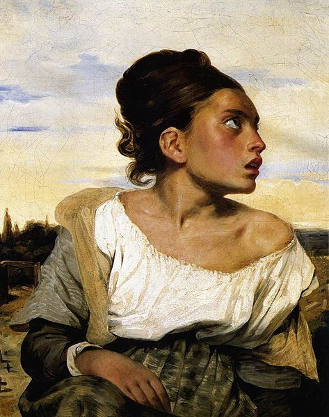 Young Orphan at the Cemetery, by Eugene Delacroix
