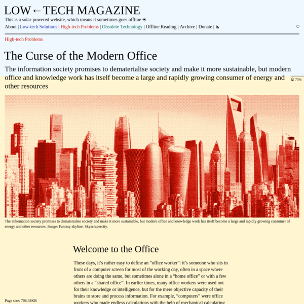 The Curse of the Modern Office