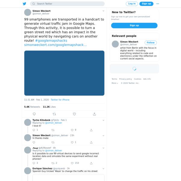Simon Weckert on Twitter