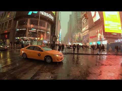 NYC Snow Walk | Broadway from Times Square to the Flatiron Building (January 18, 2020)