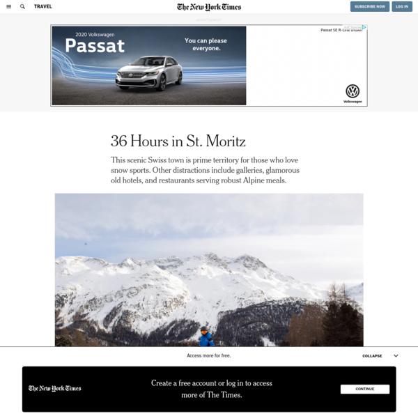 36 Hours in St. Moritz