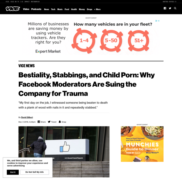 Bestiality, Stabbings, and Child Porn: Why Facebook Moderators Are Suing the Company for Trauma