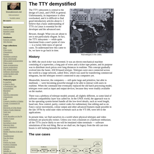 The TTY demystified