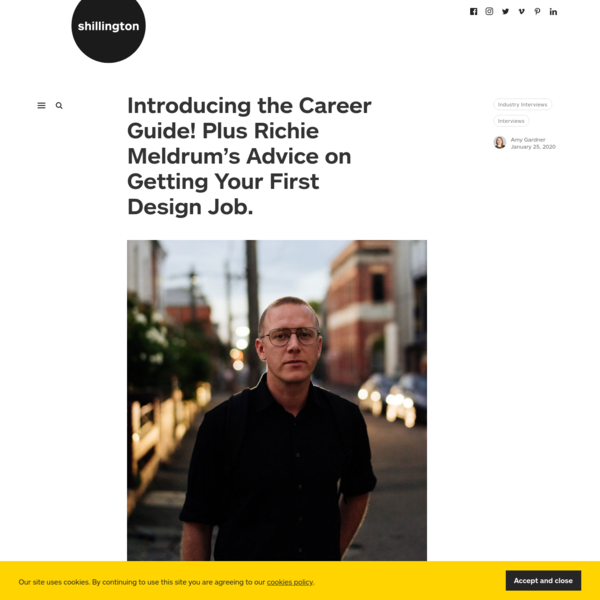 Introducing the Career Guide! Plus Richie Meldrum's Advice on Getting Your First Design Job. - Shillington Design Blog