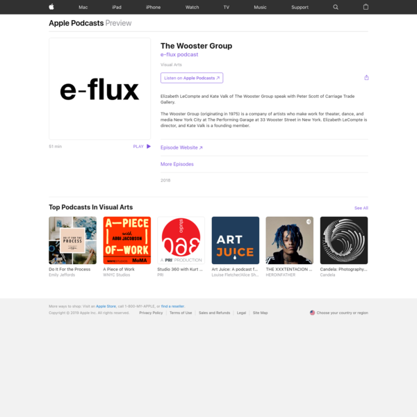 ‎e-flux podcast: The Wooster Group on Apple Podcasts
