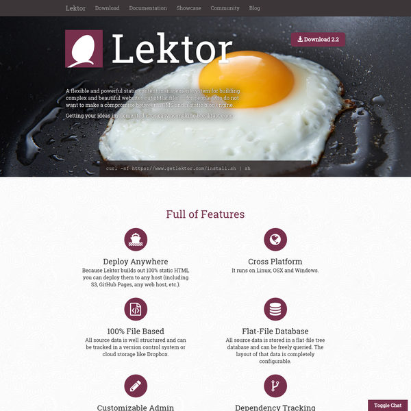 Welcome | Lektor Static Content Management System