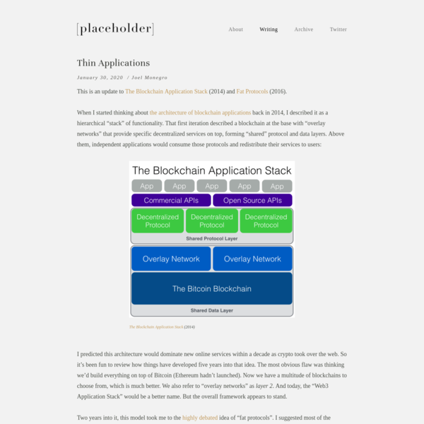 Thin Applications - Placeholder
