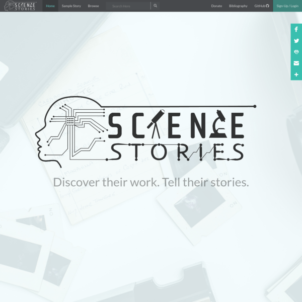 Welcome | Science Stories