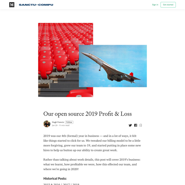 Our open source 2019 Profit & Loss