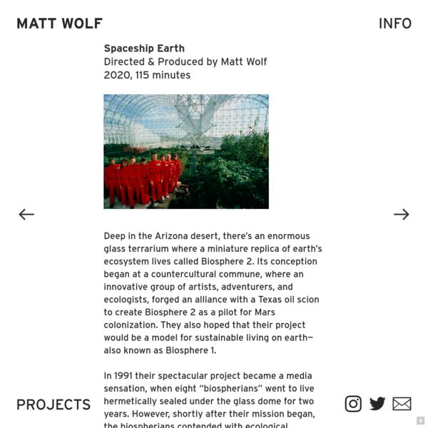 Spaceship Earth - Matt Wolf