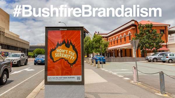 #BushfireBrandalism