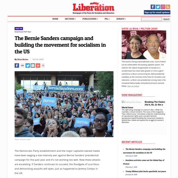 The Bernie Sanders campaign and building the movement for...