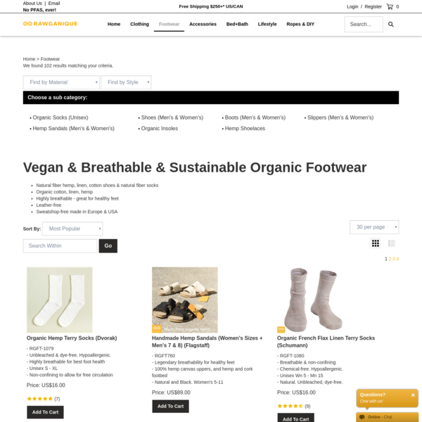 Ethical Vegan Hemp Shoes and Socks by Rawganique since 1997. Made Sweatshop-Free in Europe. All-Natural Footwear.