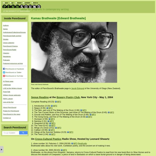 PennSound: Kamau Brathwaite