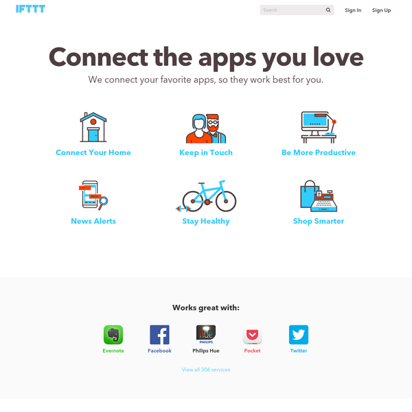 IFTTT connects the apps you love.