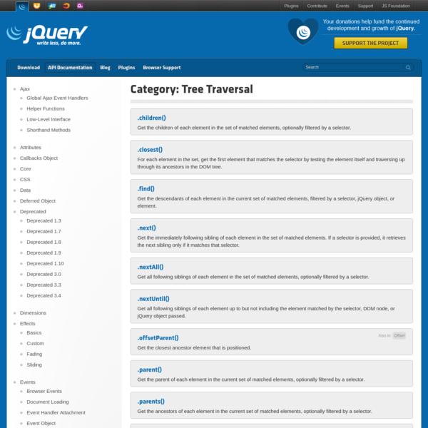 Tree Traversal | jQuery API Documentation