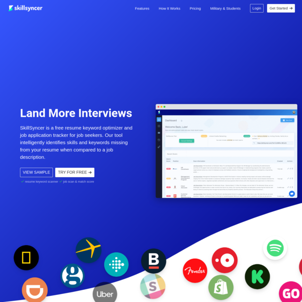 Free ATS Resume Keyword Scanner That Will Land You More Interviews   SkillSyncer