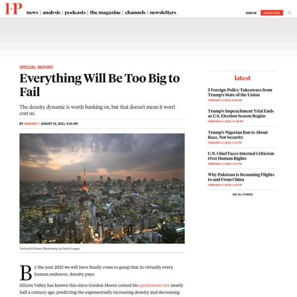 Everything Will Be Too Big to Fail