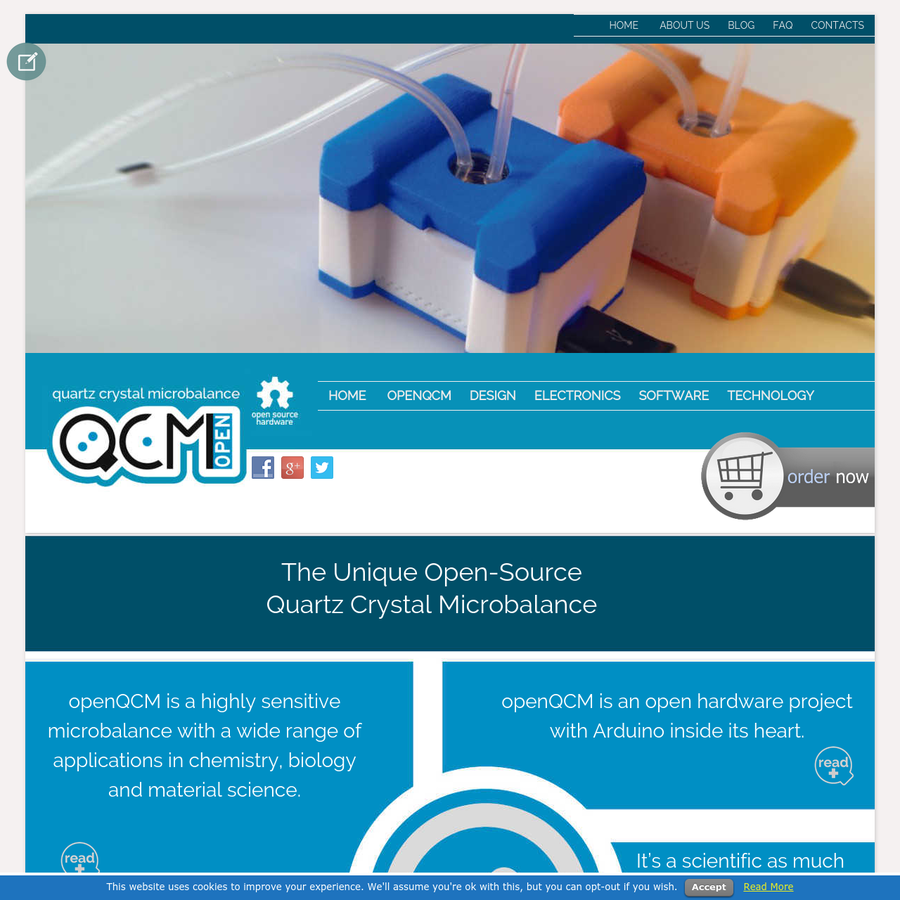 openQCM is a scientific device based on the quartz crystal microbalance technology, capable of measuring phenomena at molecular scale.